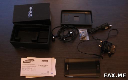 Содержимое коробки с Samsung Galaxy R
