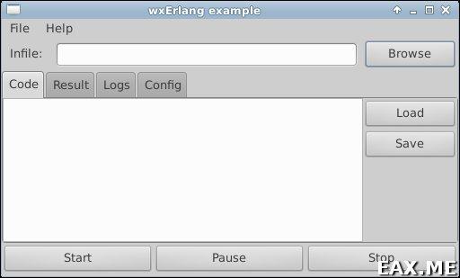 GUI приложение на Erlang - вид под Xfce