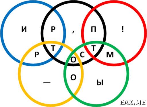 Головоломка с олимпийскими кольцами