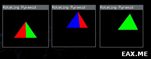 Вращающаяся разноцветная пирамида на OpenGL и Haskell