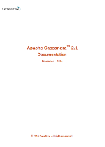 Apache Cassandra 2.1 Documentation