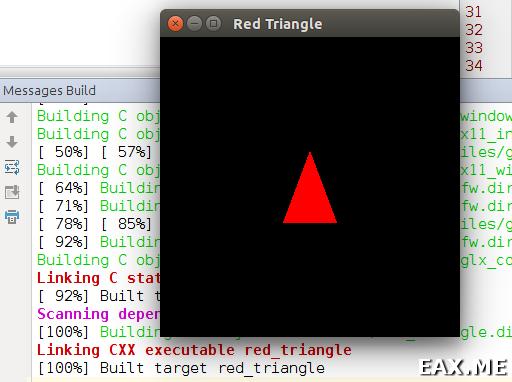 Рисуем красный треугольник на OpenGL