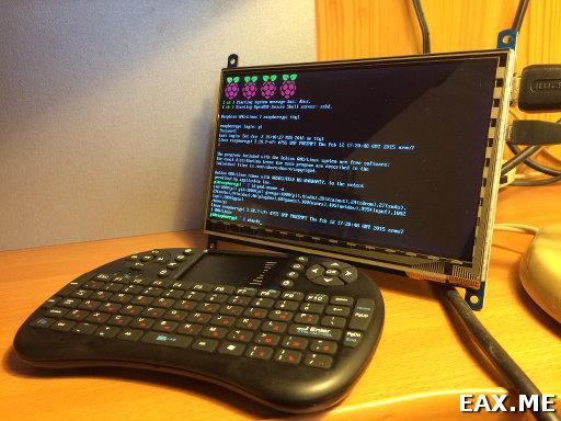Экран и беспроводная клавиатура с точпадом для Raspberry Pi