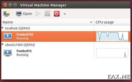 Работа с KVM при помощи virt-manager