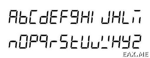 Вывод латинских букв на семисегментном индикаторе
