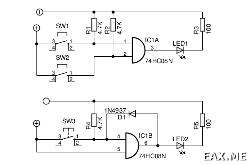 Примеры использования чипа 74HC08