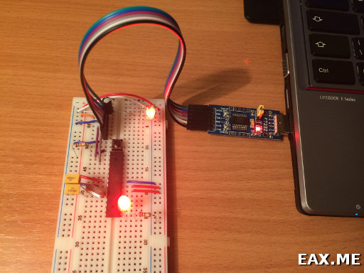 Самопальная Arduino на макетной плате