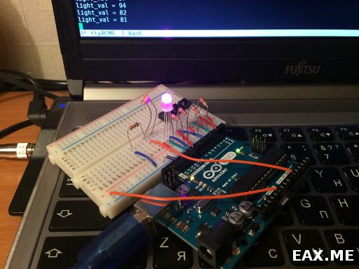 Мой первый проект на Arduino