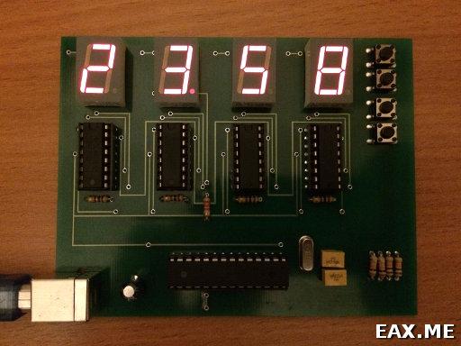 Окончательный вариант часов на ATmega328P