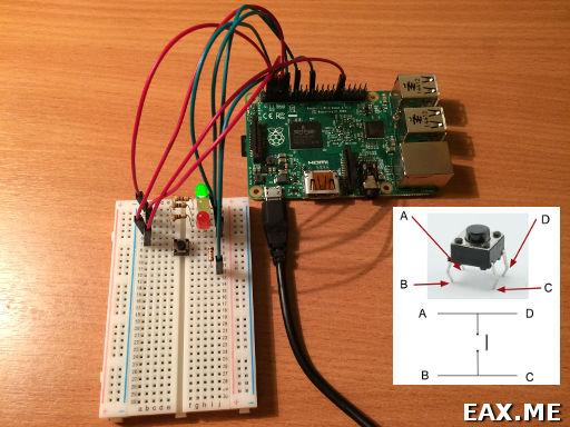 Raspberry Pi, пример использования GPIO