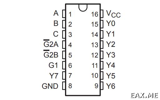 Декодер / демультиплексор 74HC138
