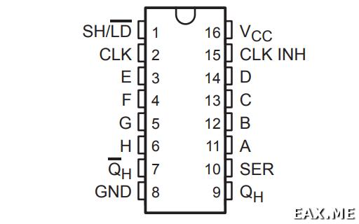 PISO сдвиговый регистр 74HC165