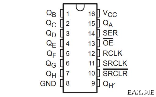 SIPO сдвиговый регистр 74HC595