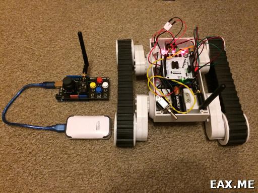 Радиоуправляемый робот на Arduino
