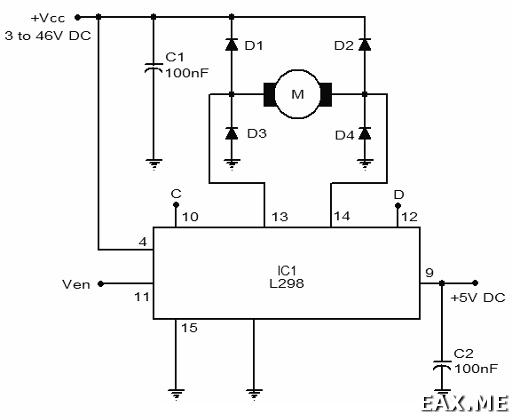 Схема подключения L298P
