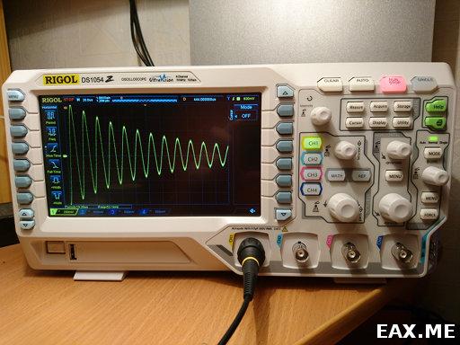 Осциллограф Rigol DS1054Z и сигнал затухающих колебаний в LC-контуре