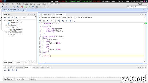 Vivado, среда разработки под FPGA от Xilinx