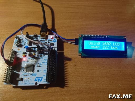 Микроконтроллеры STM32: работа с экранчиком 1602 по I2C | Записки