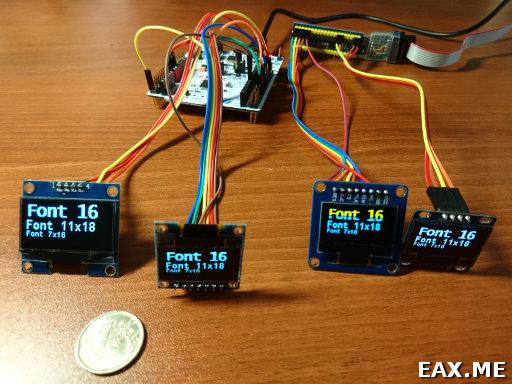 Микроконтроллеры STM32: работа с OLED-экранчиками на базе SSD1306 по