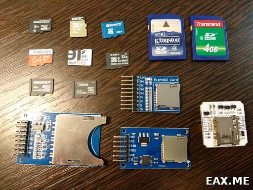 Учимся работать с SDHC/SDXC-картами по протоколу SPI