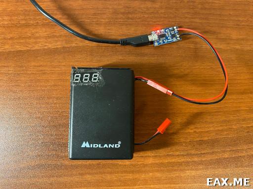 Зарядка LiIon аккумулятора для Alan 42