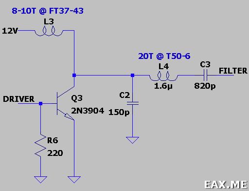 Схема усилителя CW-передатчика