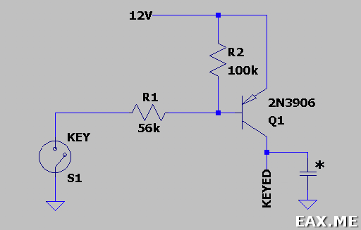 Keying схема простого CW передатчика